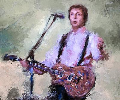 Mccartney Digital Art - Paul Mccartney Live by Yury Malkov