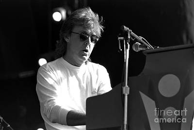 Concert Photograph - Paul Mccartney - Magical Piano by Timothy Bischoff