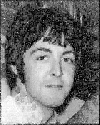 Sergeant Pepper Photograph - Paul Mccartney Mosaic Image 2 by Steve Kearns
