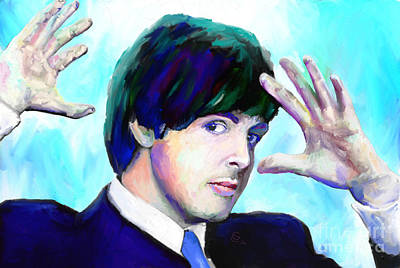 Paul Mccartney Of The Beatles Art Print by G Cannon