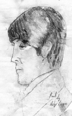 Paul Mccartney Profile Art Print