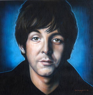 Airbrush Painting - Paul Mccartney by Timothy Scoggins
