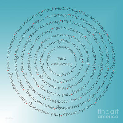 Digital Art - Paul Mccartney Typography by Andee Design