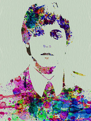 Paul Mccartney Watercolor Art Print by Naxart Studio