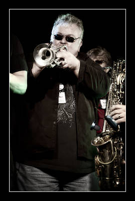 Trumpet Photograph - Paul Millane On Trumpet by Jennifer Rondinelli Reilly - Fine Art Photography