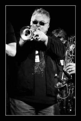 Trumpet Photograph - Paul Millane On Trupet In Black And White by Jennifer Rondinelli Reilly - Fine Art Photography