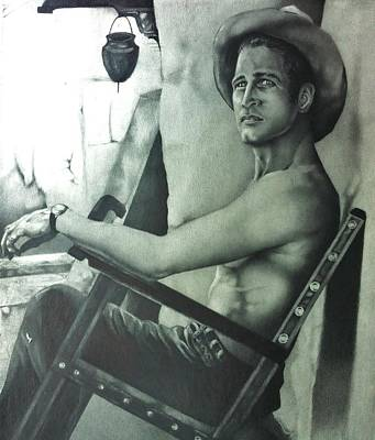 Drawing - Paul Newman by Carl Baker