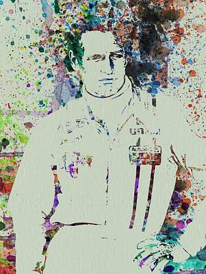 Famous Watercolor Painting - Paul Newman  by Naxart Studio