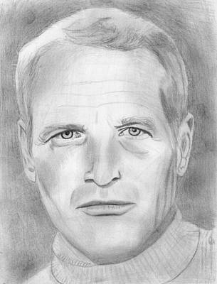 Drawing - Paul Newman by Pat Moore