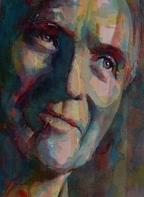 Paul Newman Art Print by Paul Lovering
