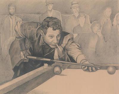 Role As Drawing - Paul Newman The Hustler by Rachel Ferguson