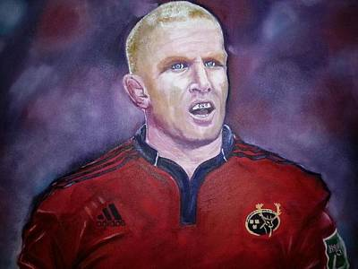 Rugby Painting - Paul O Connell by Lynda Ryan