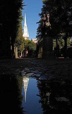 Paul Revere And The Old North Church Art Print by Juergen Roth