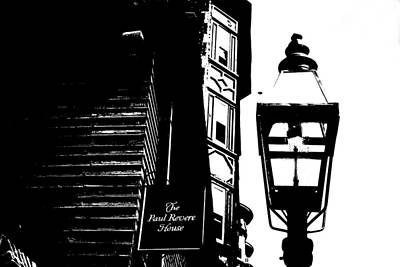 Gas Lamp Photograph - Paul Revere by Charlie and Norma Brock