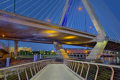 Photograph - Paul Revere Park And The Zakim Bridge by Susan Candelario