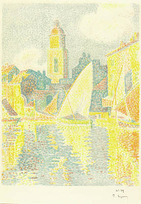 St.tropez Drawing - Paul Signac French, 1863 - 1935 by Quint Lox