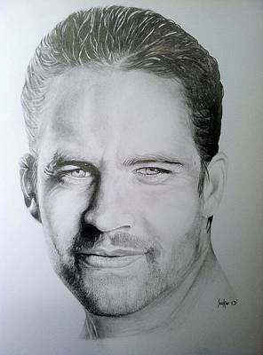 Drawing - Paul Walker by Stephen Sookoo