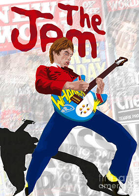 Rickenbacker Painting - Paul Weller Wham by Neil Finnemore