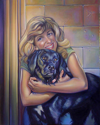 Portraits Royalty-Free and Rights-Managed Images - Commissioned Portrait of Paula and Bo by Patrick Anthony Pierson