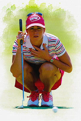 Ernie Els Wall Art - Digital Art - Paula Creamer - Safeway Classic  by Don Kuing
