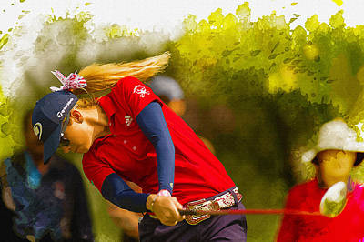 Ernie Els Wall Art - Digital Art - Paula Creamer - The 2014 Lorena Ochoa Invitational  by Don Kuing