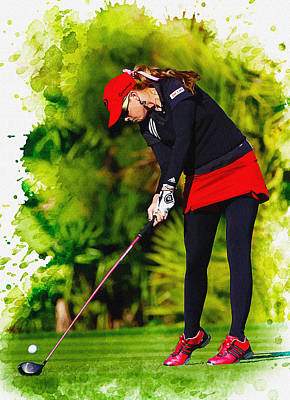 Ernie Els Wall Art - Digital Art - Paula Creamer - The Lpga Tour Championship  by Don Kuing