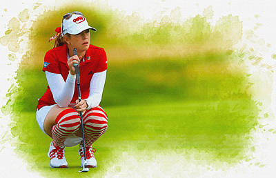Ernie Els Wall Art - Digital Art - Paula Creamer - The Ricoh Women British Open by Don Kuing