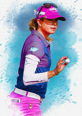 Ernie Els Wall Art - Digital Art - Paula Creamer Waves To The Gallery by Don Kuing