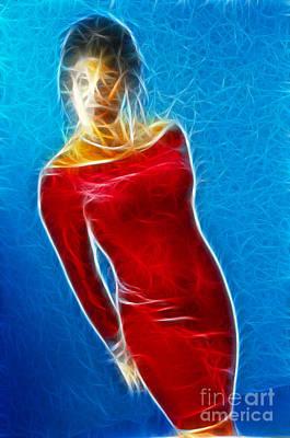 Paula Velvet Vison Fractal Art Print by Gary Gingrich Galleries