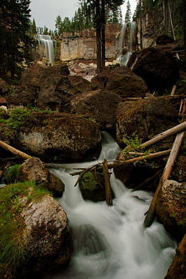 Photograph - Paulina Creek Falls by Daniel Woodrum