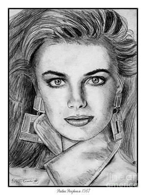 Drawing - Paulina Porizkova In 1987 by J McCombie