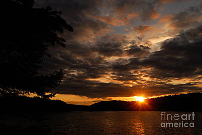 Photograph - Paull Lake Sunset by Larry Ricker