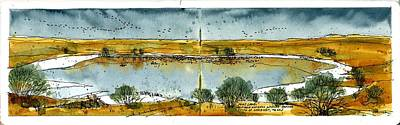Art Print featuring the mixed media Paul's Lake by Tim Oliver