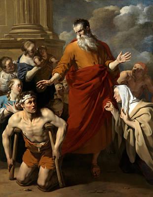 Cripple Painting - Paulus Heals The Cripple In Lystra by Karel Dujardin