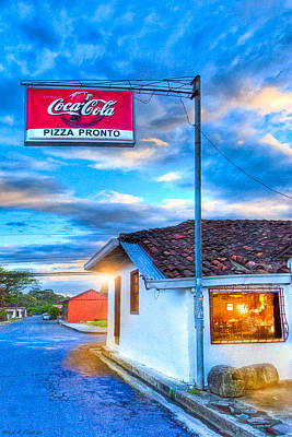 Photograph - Pausing To Dine On Pizza In Costa Rica by Mark E Tisdale