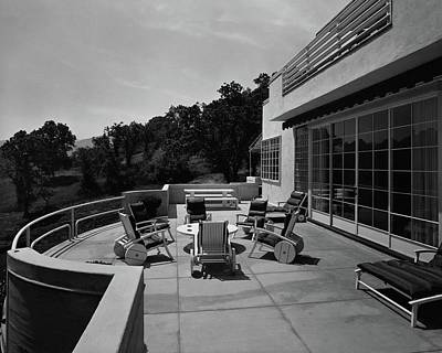 Coffee Table Photograph - Paved Terrace At The Residence Of Mr. And Mrs by Clyde H. Sunderland