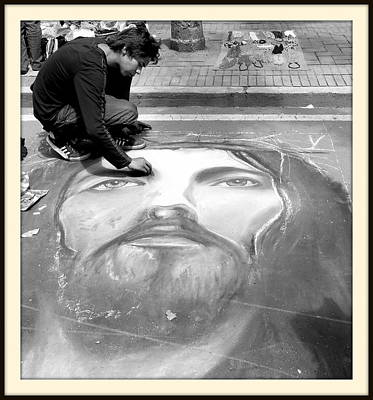 Pointillist Photograph - Pavement Artist by Daniel Gomez