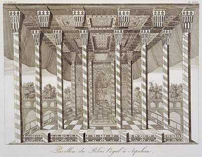 Pavilion At The Royal Palace Art Print by French School