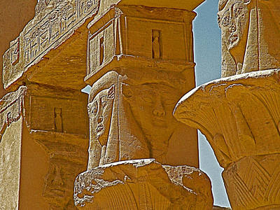 Hathor Digital Art - Pavilion Of Nectanebo I Dedicated To Hathor On Philae Island Near Aswan-egypt  by Ruth Hager