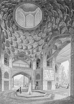 Iran Painting - Pavilion Of The Eight Paradises by Pascal Xavier Coste