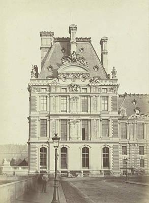 Louvre Drawing - Pavilion Of The Louvre, Paris, France by Artokoloro