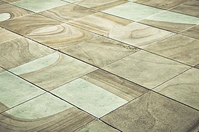 Paving Slabs Art Print by Tom Gowanlock