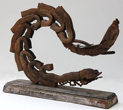 Surreal Sculpture - Pavor Nocturnus  C1986 by Paul Ashby