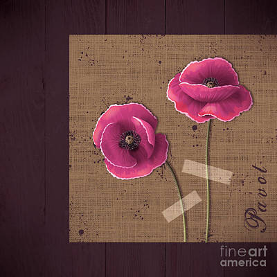 Poppy Digital Art - Pavot - S02c11b by Variance Collections