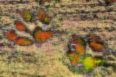 Paw Prints Like Butterflies Muted Art Print