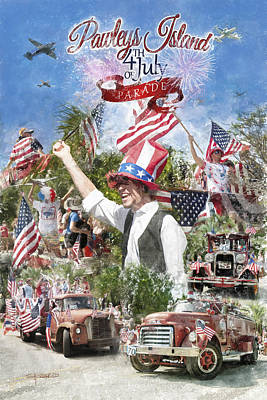 Digital Art - Pawleys Island 4th Of July by Alan Sherlock