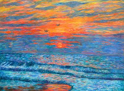 Painting - Pawleys Island Sunrise In The Sand by Kendall Kessler