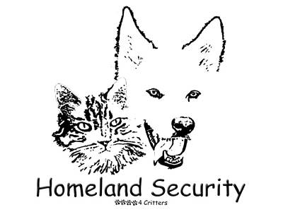 Photograph - Paws4critters Homeland Security by Robyn Stacey