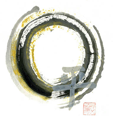 Buddhist Painting - Pax - Zen Enso by Ellen Miffitt