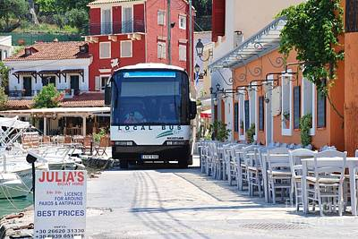 Paxos Island Bus Art Print
